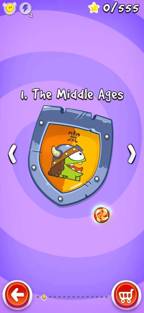 Cut The Rope: Time Travel MOD APK [Unlimited Hints | Powers] 3
